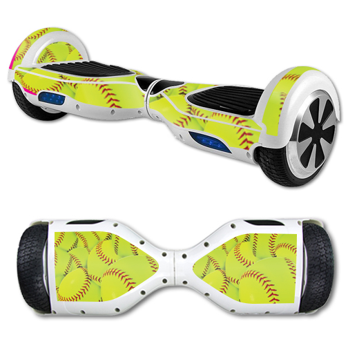 MightySkins Protective Vinyl Skin Decal for Hover Board Self Balancing Scooter mini 2 wheel x1 razor wrap cover sticker Softball Collection