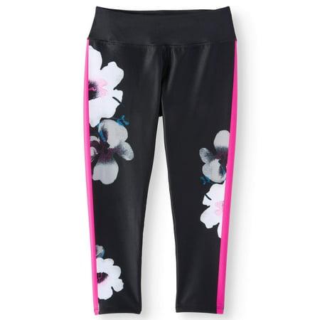 Floral Print Active Capri Legging (Little Girls & Big Girls)
