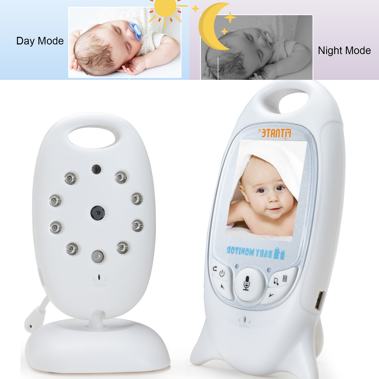 Baby Infant Wireless Video Digital Camera Monitor Night Vision 853ft Signal Range Stable Connection