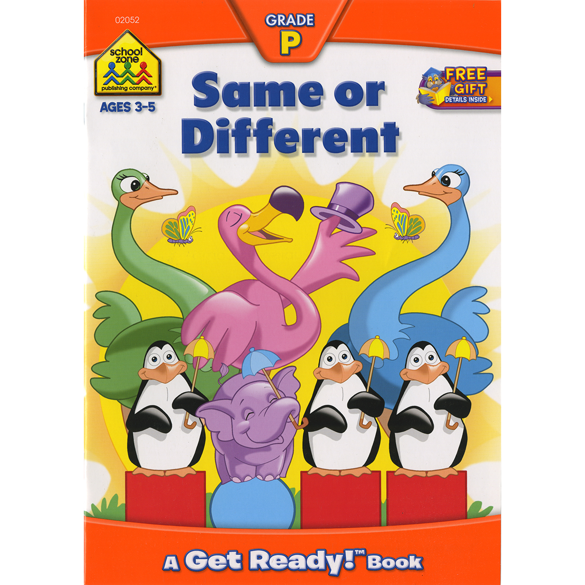 Preschool Workbooks-same Or Different - Ages 3-5