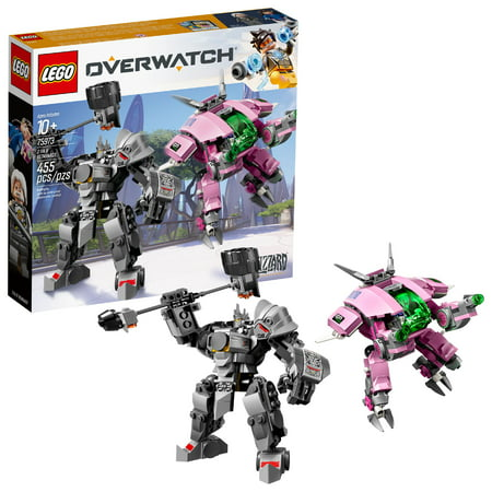 LEGO Overwatch D.Va and Reinhardt 75973 Mech Building Kit (455 Pieces)