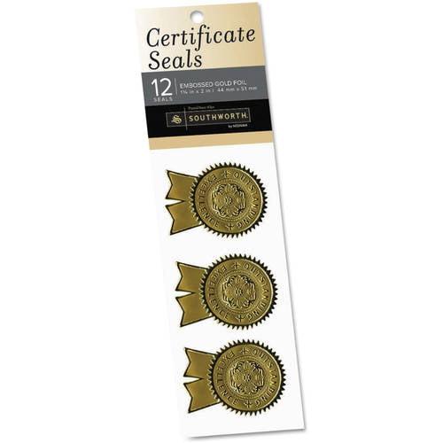 Southworth Gold Foil Certificate Seals