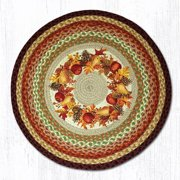 "Earth Rugs RP-431 Autumn Wreath Round Patch 27"" x 27"""