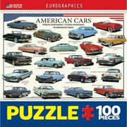 American Cars of the 50s Mini 100 Piece Puzzle,  Classic Car by Eurographics
