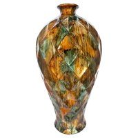 Heather Ann Creations Tinsley 20 in. Foiled and Lacquered Floor Vase