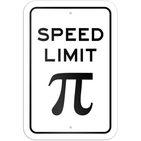 Speed Limit Pi Symbol Math Sign Walmart
