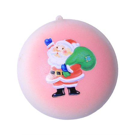 DZT1968 Christmas Santa Claus Bread Slow Rising Scented Relieve Stress Toy Key Pendant