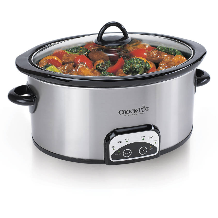 Crock-Pot 7-Quart Smart-Pot Slow Cooker, Brushed Stainless Steel