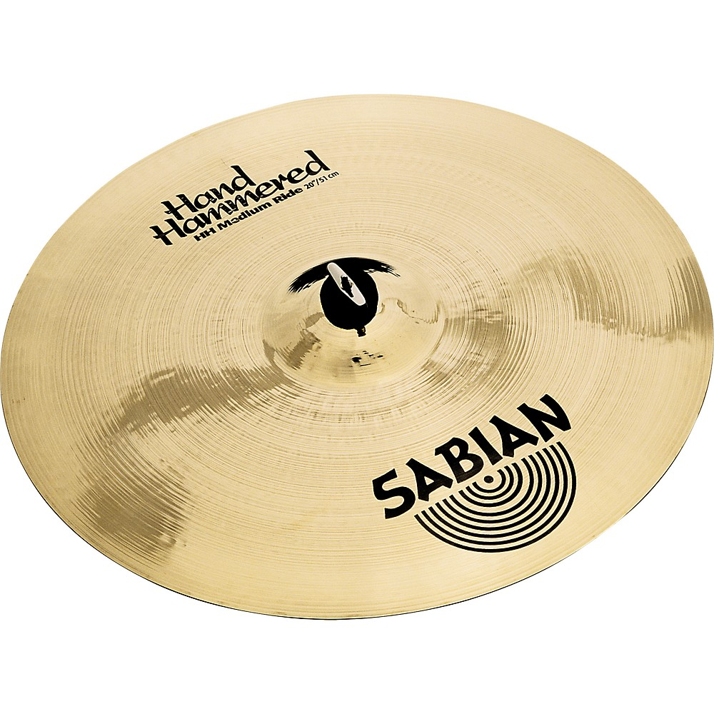 Sabian Hand Hammered Medium Ride Cymbal Brilliant 20 in. by Sabian