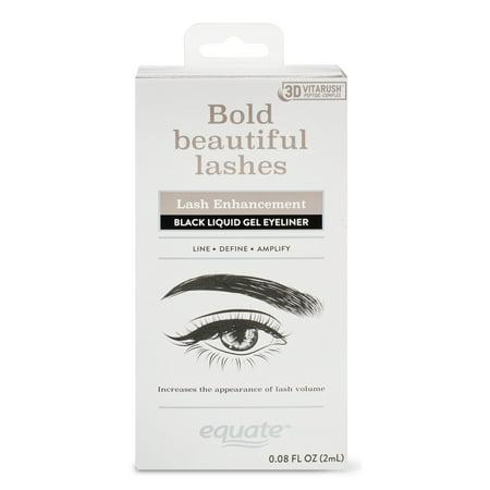 Equate Lash Enhancement Black Liquid Gel Eyeliner with 3D VitaRush Peptide Complex