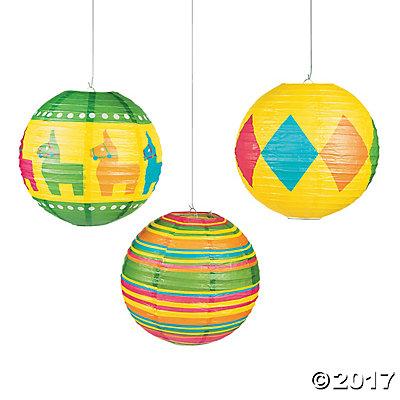 Fiesta Hanging Paper Lanterns