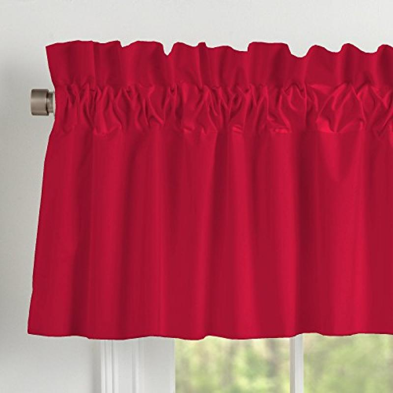 Carousel Designs Solid Red Window Valance Rod Pocket by Carousel Designs