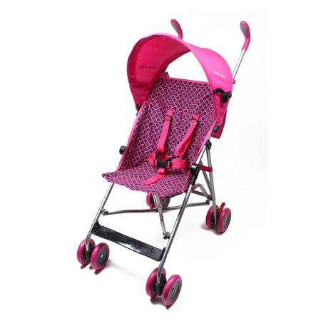 Wonder Buggy Skylar Jumbo Umbrella Stroller With Round Adjustable Canopy - Hot Pink (Baby Buggy)