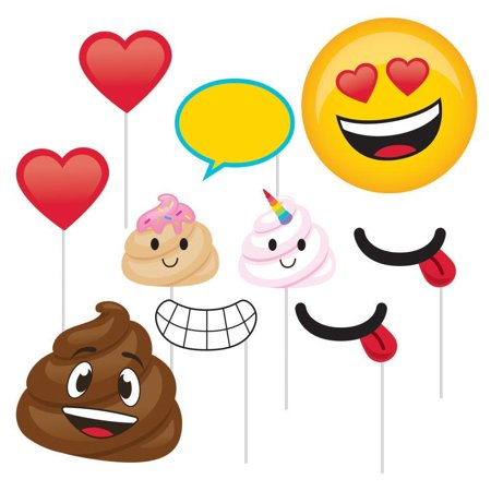 Creative Converting Poop Emoji Photo Booth Props, 10 ct](Creative Photo Props)