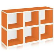 Modular Storage Cube in Orange - Set of 6