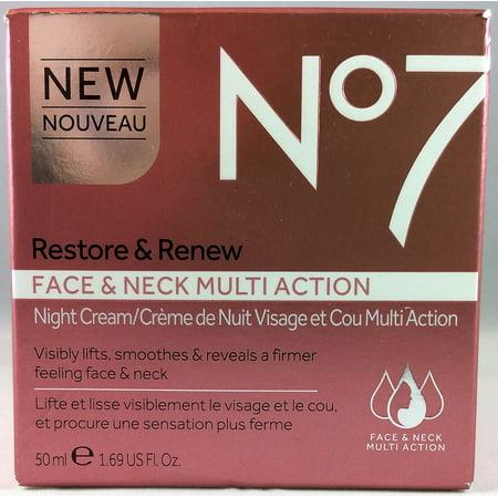 Boots No7 Restore & Renew Face & Neck Multi Action Night Cream - 1 69 oz