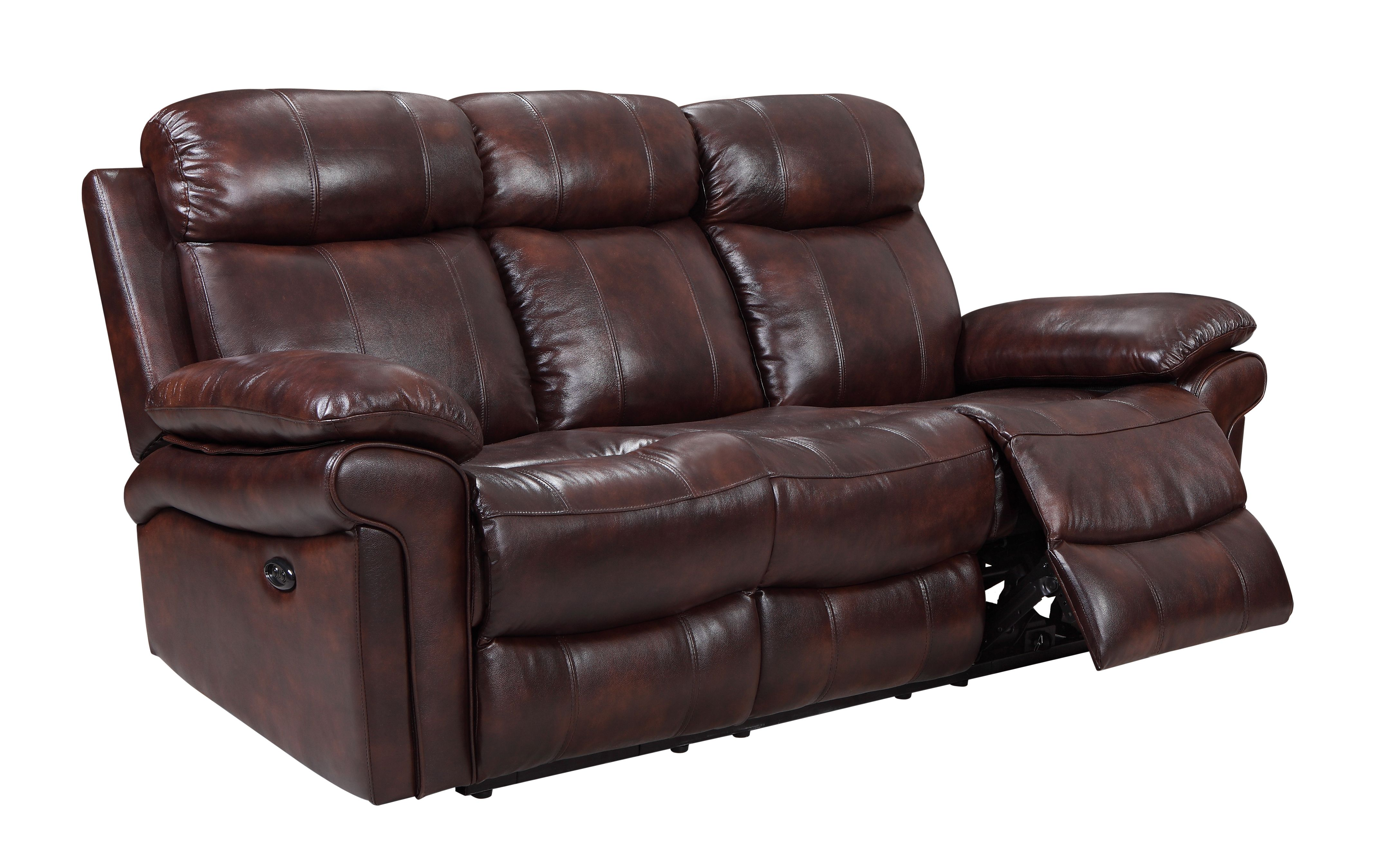 Superior Hudson Power Reclining Top Grain Leather Sofa