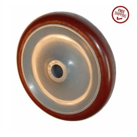 "(One) Colson 5"" x 7/8"" Polyurethane Wheel with 5/8"" ID Maroon Narrow Tread"