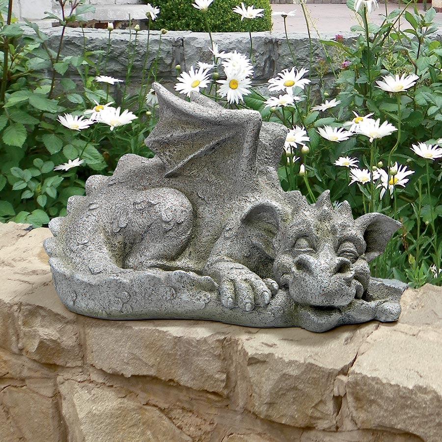 Design Toscano Blushing Babel, the Bashful Dragon Statue: Medium
