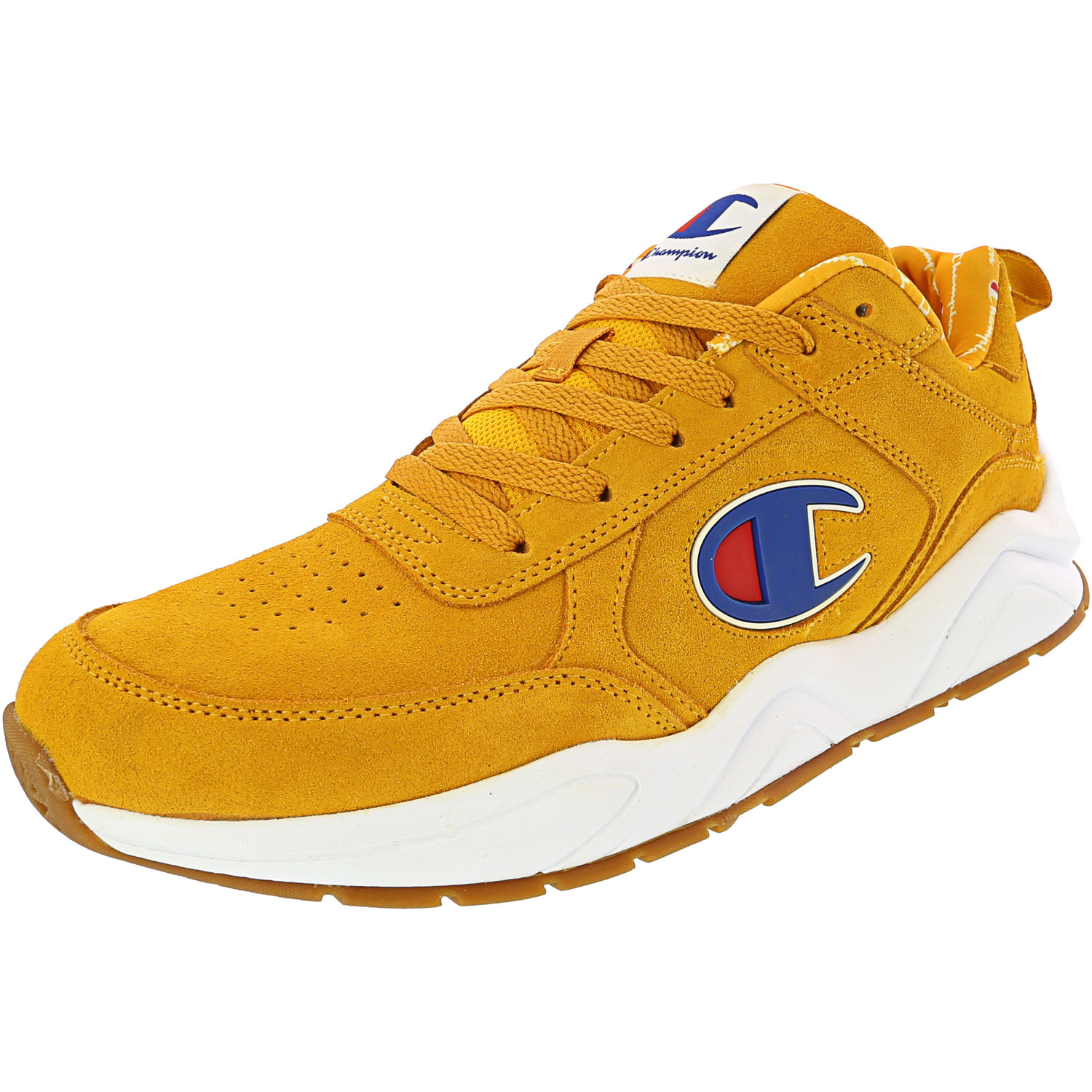 Gold Ankle-High Suede Sneaker - 10.5
