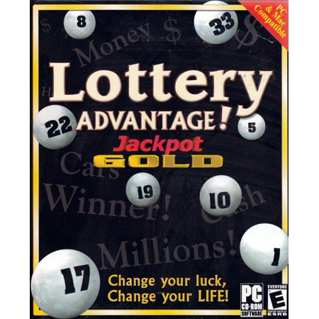 Lottery Advantage Jackpot Gold - Change your Luck!  CDRom for Windows XP, 2000, 98 or NT 4 OR Mac 8.6 to 9.2