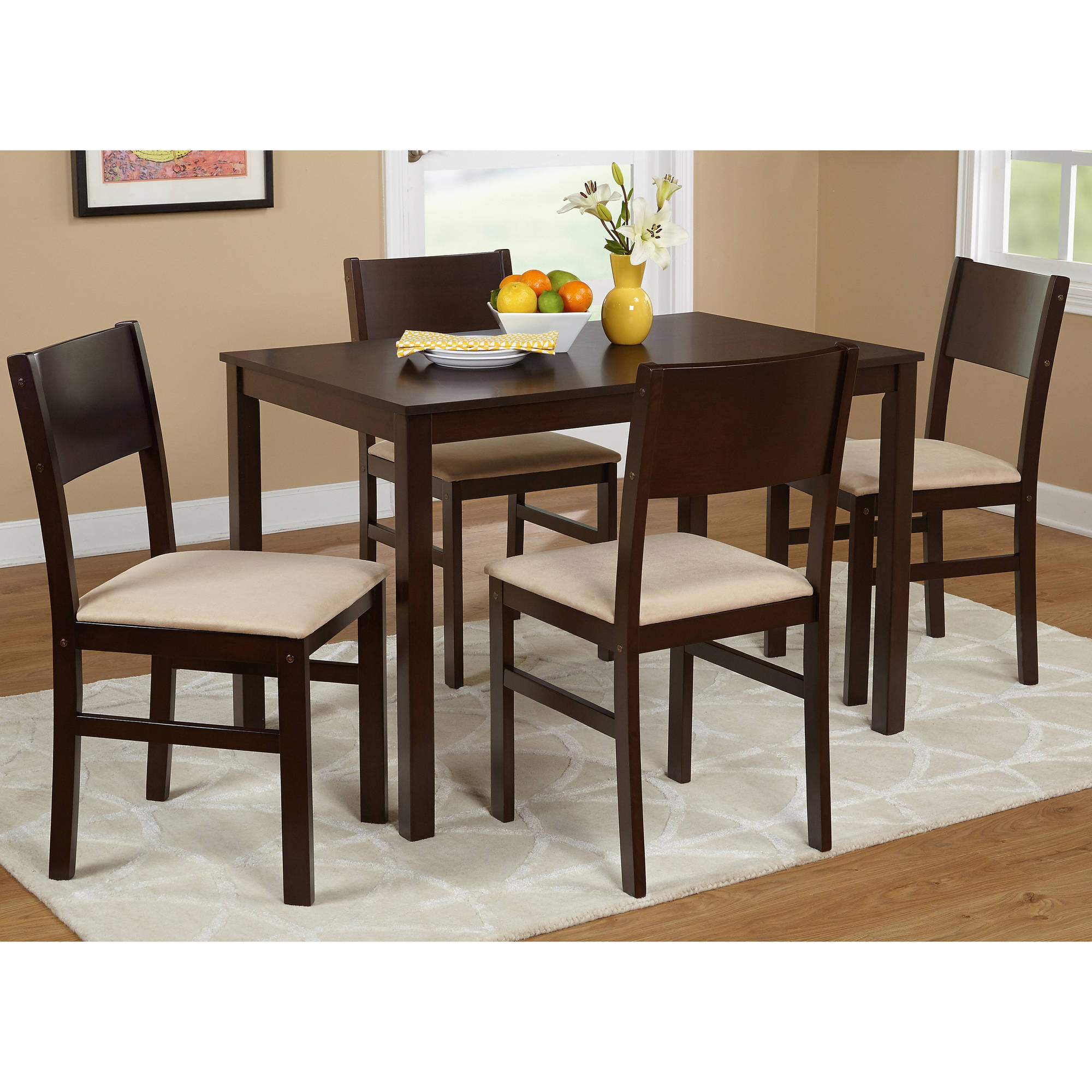 5 Piece Metal Dining Set, Black   Walmart.com