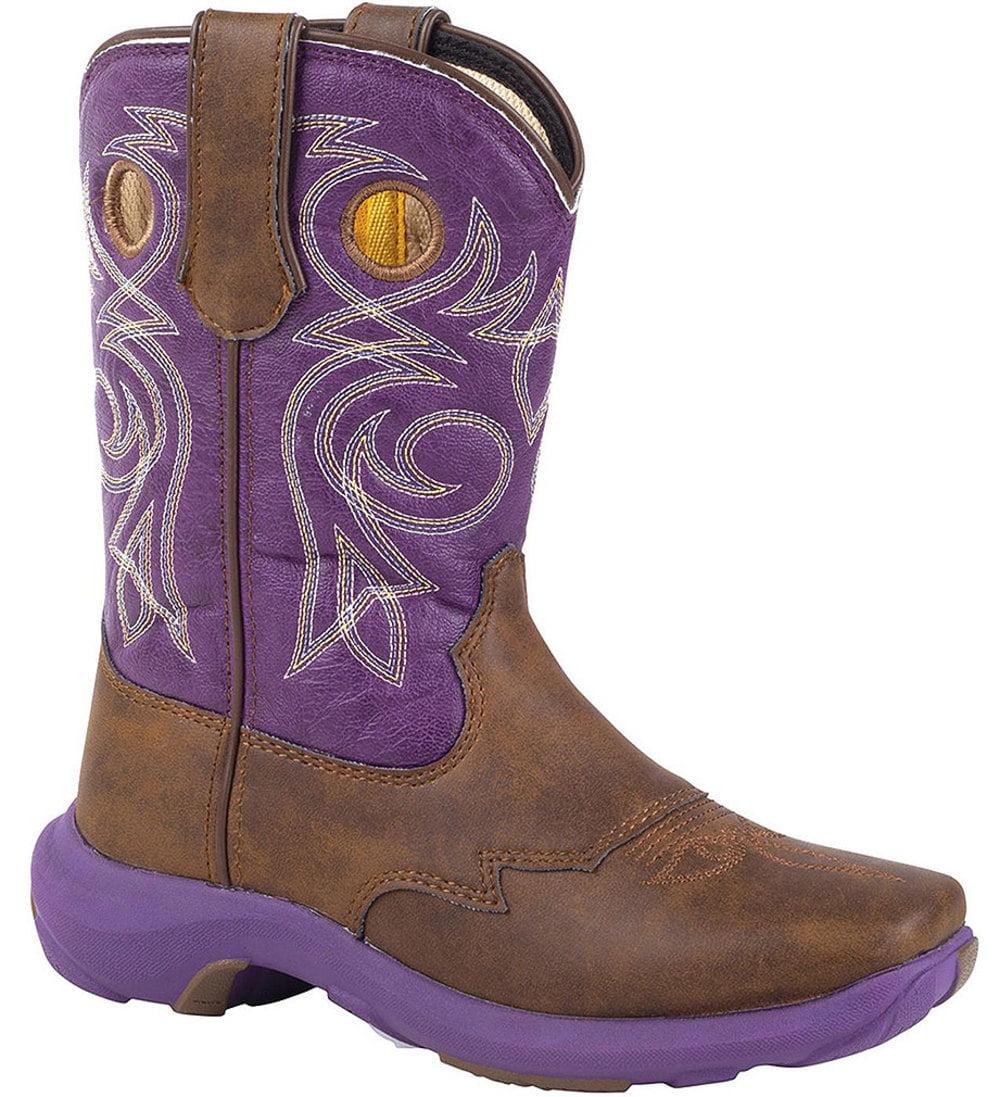 "Durango Kid's 8"" REBELICIOUS Western Purple Boots 13.5 M by Durango"