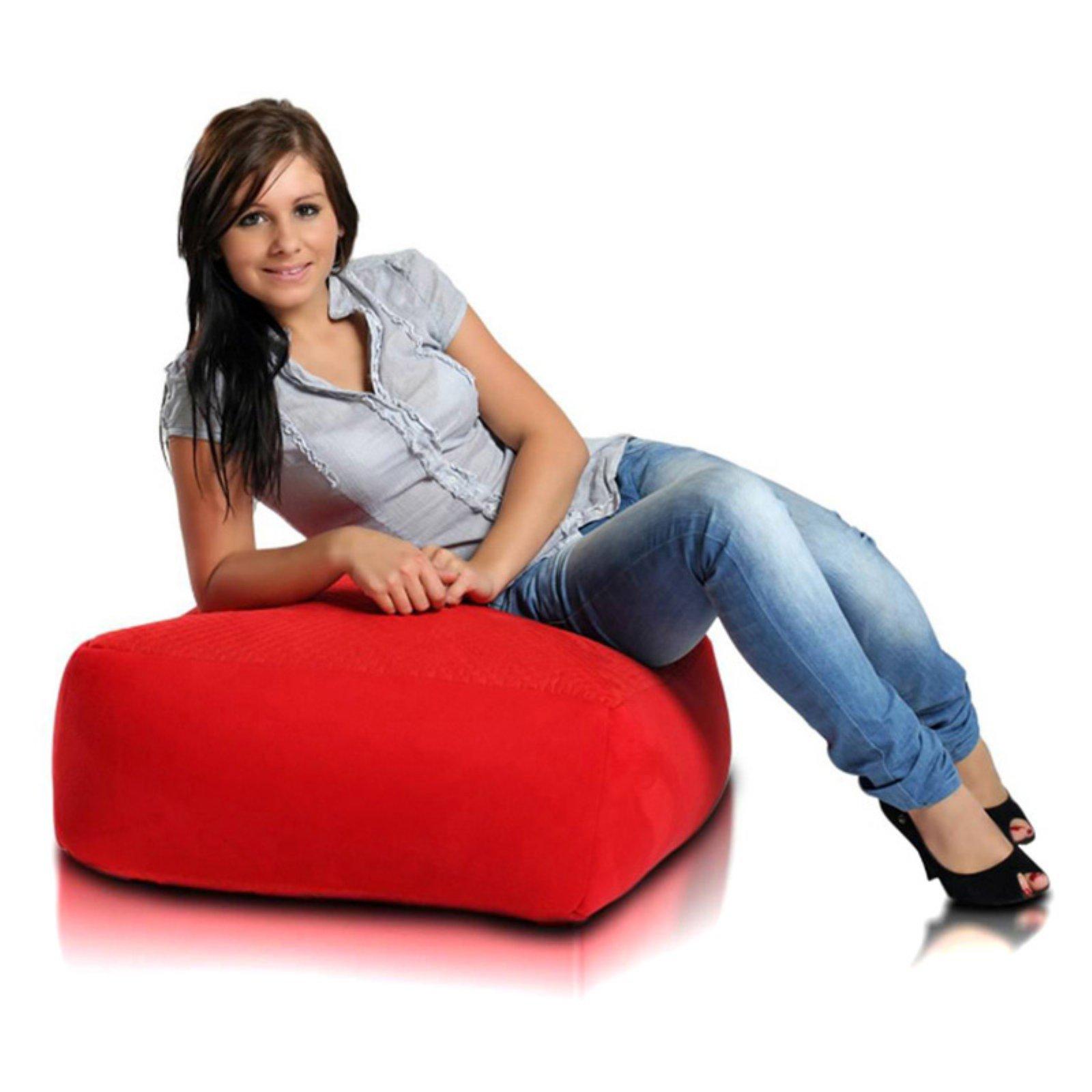 Turbo Beanbags Cubo Premium Bean Bag Chair - Red