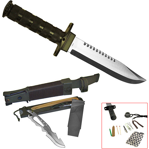 "Whetstone Jungle King 14"" Hunting Knife with Nylon Sheath"