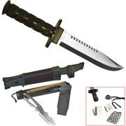 "Whetstone Jungle King 14"" Hunting Knife with Nylon Sheath"