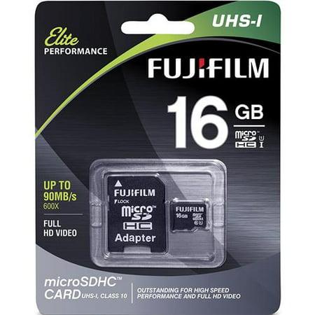 Fujifilm 16GB UHS-1 Class 10 MicroSDHC Memory Card