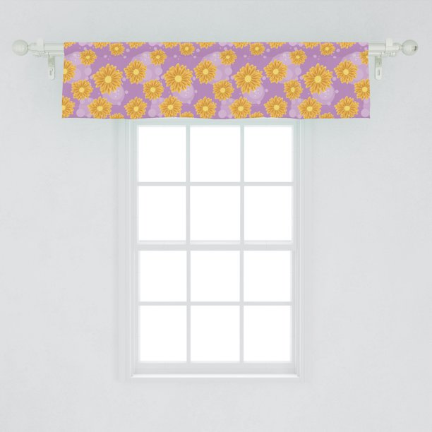 Aster Window Valance Spring Flower Petals Fragrance Buds Summer Flourishing Meadow Beauty Curtain Valance For Kitchen Bedroom Decor With Rod Pocket By Ambesonne Walmart Com Walmart Com