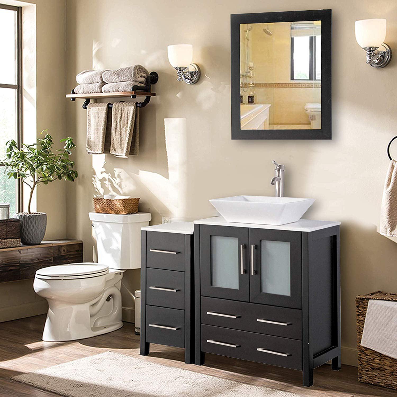 Vanity Art 36 Inch Single Sink Bathroom Vanity Combo Set ...