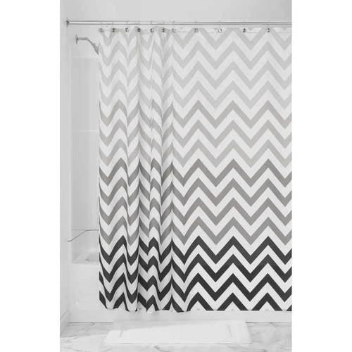 "InterDesign Ombre Chevron Fabric Shower Curtain, Standard 72"" x 72"", Blue Multi"