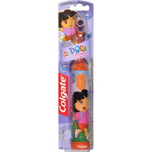 Colgate Powered Dora The Explorer Extra Soft Toothbrush, 1ct