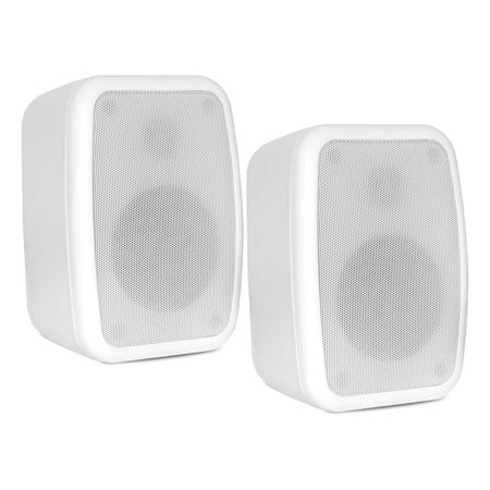 (Theater Solutions TS4ODW Indoor or Outdoor Speakers Weatherproof Mountable White Pair)