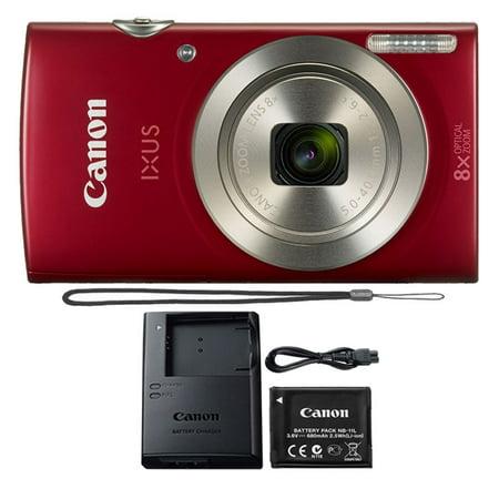 Canon PowerShot IXUS 185 / Elph 180 20MP Compact Digital Camera Red ()
