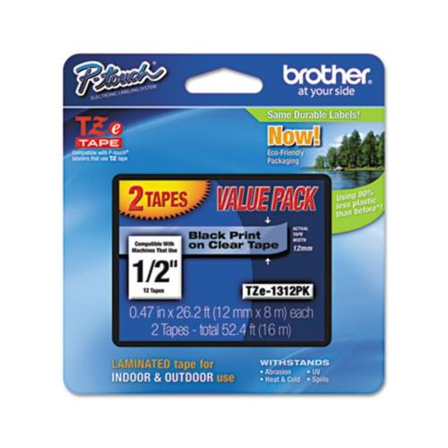 Brother TZe Standard Adhesive Laminated Labeling Tapes BRTTZE1312PK