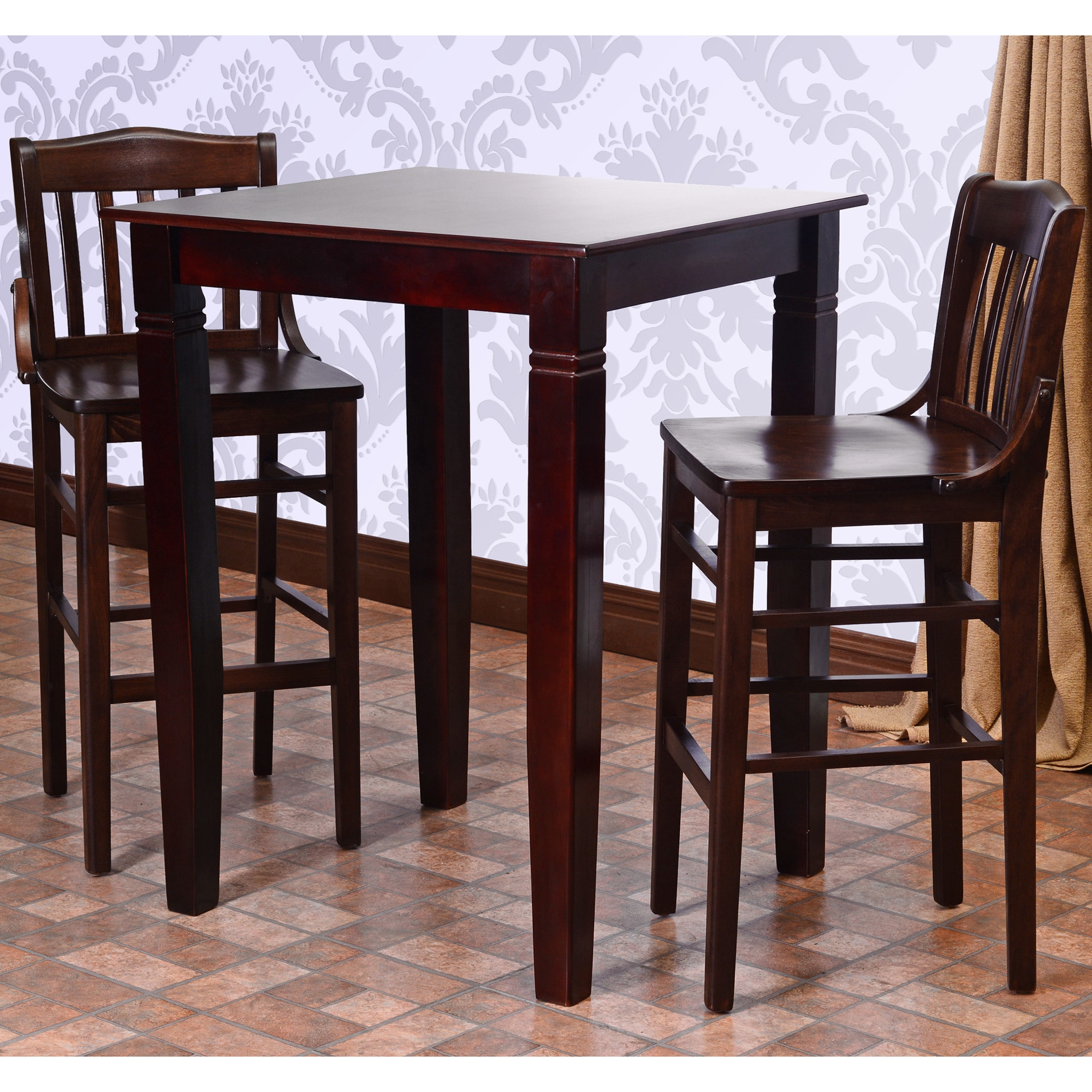 Beechwood Mountain Library Solid Wood 3-piece Pub Table Set by Overstock