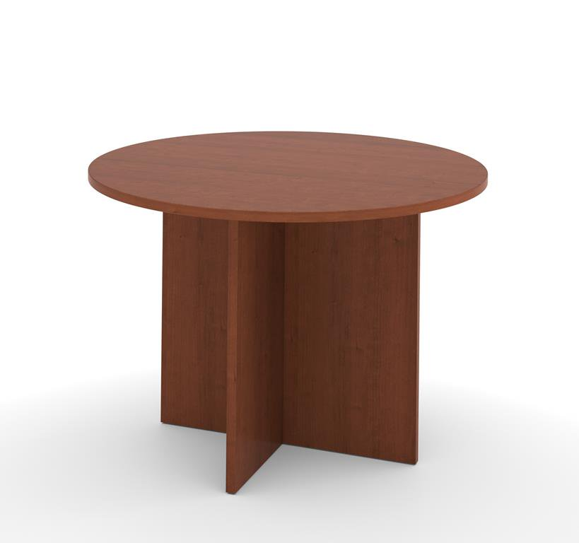 Bestar Meeting Solutions 42 Inch Round Meeting Table in Cherry Cognac
