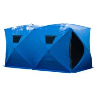 Outsunny Insulated Pop Up Portable Ice Fishing Shelter Tent (Double (5 - 8 Person))