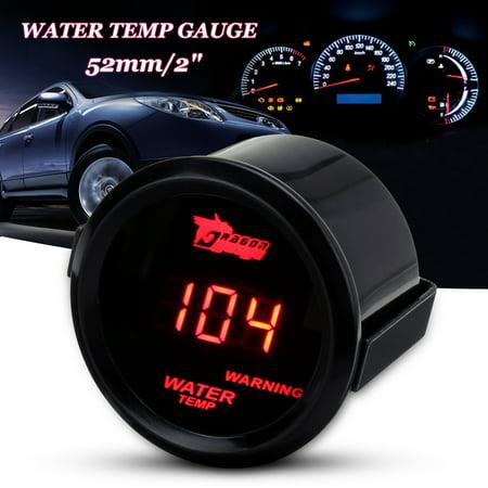 Honda Water Temp Sensor (2'' 52mm Water Temp Temperature LED Red led Digital Fahrenheit Gauge W/ sensor USA)