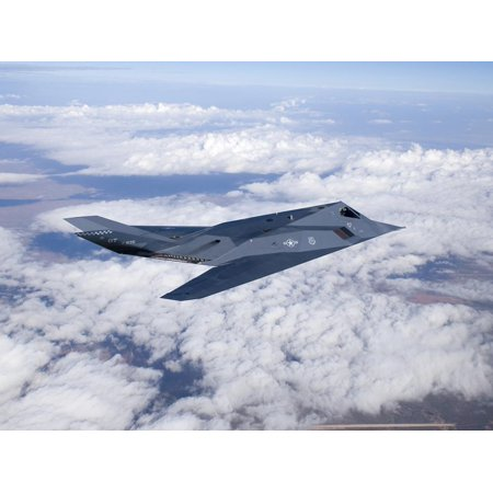 An F-117 Nighthawk Stealth Fighter in Flight Over New Mexico Print Wall Art By Stocktrek Images