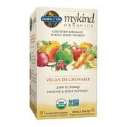 Garden of Life Mykind Organics Vitamin D3 Chewables, Raspberry-Lemon, 30 Ct