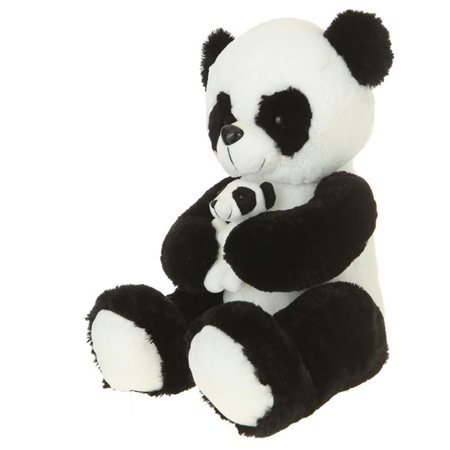 Giftable World A08004 16 in. Plush Panda with Baby - Babby Panda
