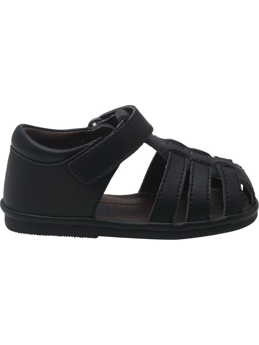 Baby Boys Black Fisherman Strap Bow Sandals Shoes 4 Baby-7 Toddler