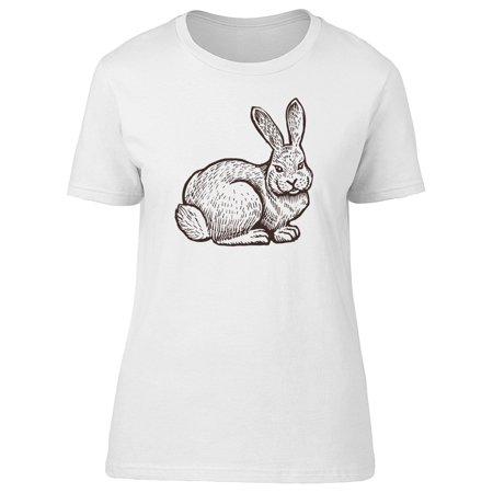 Farm Rabbit Sketch Tee Women s Image by Shutterstock