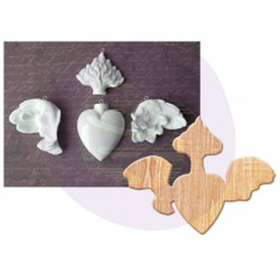 Prima Marketing Relics and Artifacts Cast with Wood Support Frame, Rising Spirit IV,, 5pk