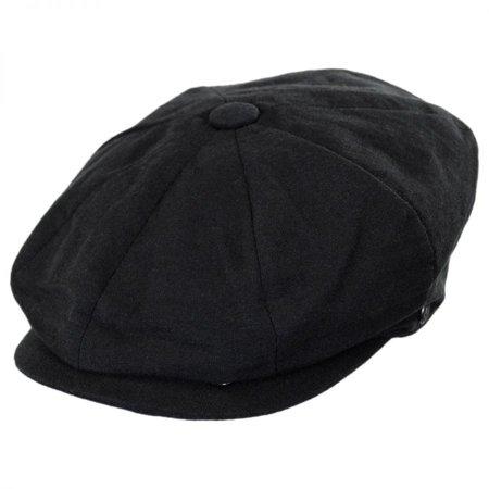 Jaxon Hats - Linen and Cotton Newsboy Cap - XXL - Black - Walmart.com 054725a9bb84