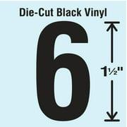 STRANCO INC DBV-1.5-6-10 Die Cut Number Label, 6, 10 Cards,PK10